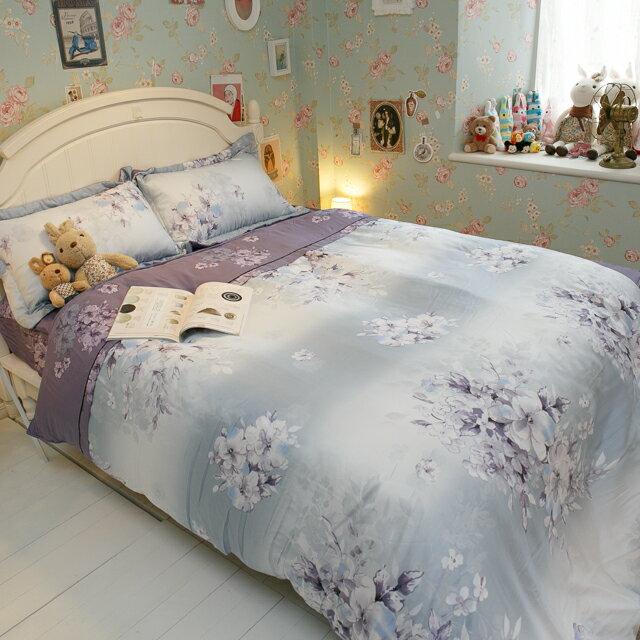 天絲床組  紫花風鈴木 多種尺寸組合賣場 100%木漿纖維 7