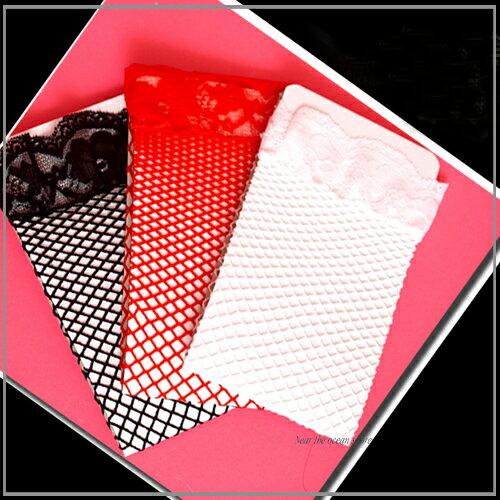 筱雅衣舖【A06-1】性感蕾絲膝上網襪(小網)-黑.白2色