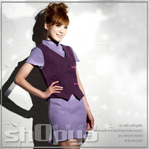 筱雅衣舖【BT365】角色扮演cosplay~紫色旗袍式連身超人氣空姐制服-大尺碼