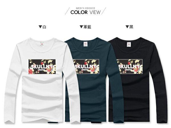 ☆BOY-2☆【JN7351】休閒SKULLNY碎花長T恤 2