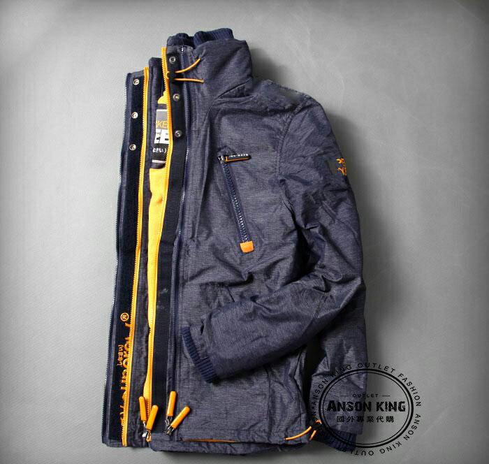 [男款] 英國名品 代購 極度乾燥 Superdry Polar Wind Attacke 男士防水防風戶外休閒外套夾克 深藍/黃 2