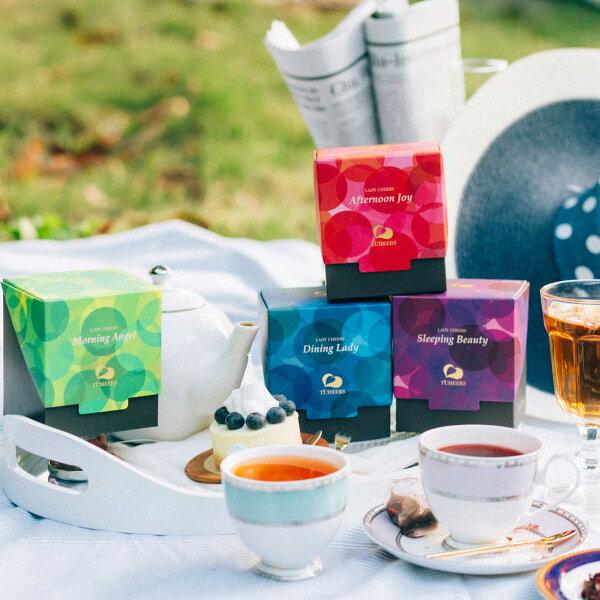 【99免運】洋甘菊紅茶/蕎麥綠茶/黑醋栗果茶 精緻小禮盒 1包*3g*8份/盒 Lady cheers  果粒茶包 花草茶 花茶