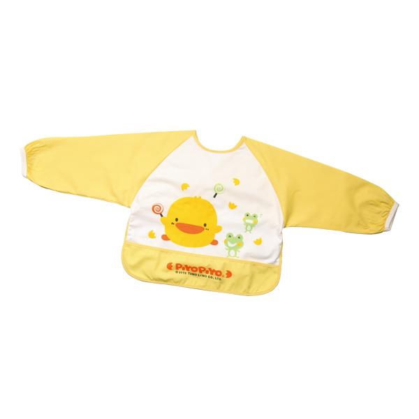 『121婦嬰用品館』黃色小鴨 長袖餵食圍兜 - 限時優惠好康折扣