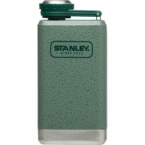 ├登山樂┤ 美國 Stanley SS Flask 經典酒壺 0.15L - 錘紋綠 #10-01695-GN