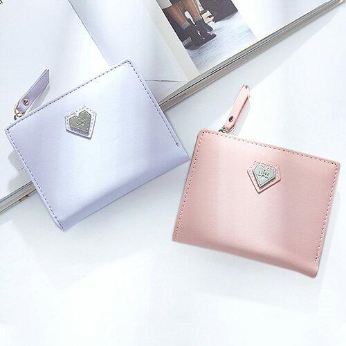短夾 愛心素面夾卡包錢包短夾【WNP599-5】 BOBI  12/01 0