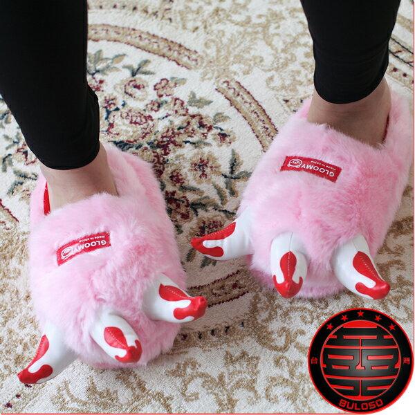 《不囉唆》韓國賣翻 秋冬新作 血腥熊爪暴力熊拖鞋 絨毛拖鞋(不挑色/款)【A205153】