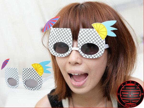 《不囉唆》LADY GAGA 著用 格子杯太陽眼鏡 搞怪眼鏡 kuso眼鏡【A220323】