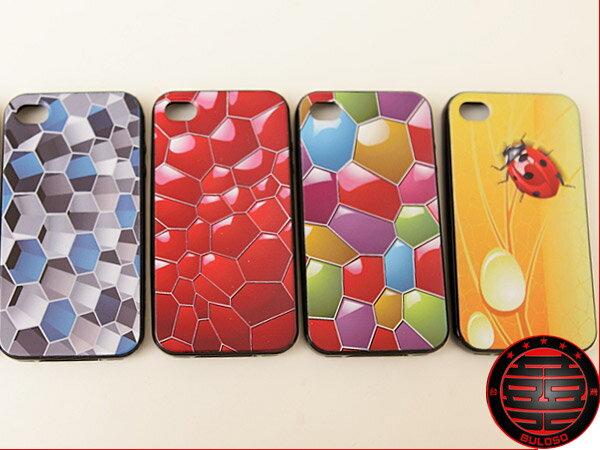 《不囉唆》5款彩繪蜂巢 IPHONE 4保護套/保護殼(不挑色/款)【Y223645】