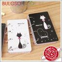 《不囉唆》【A285056】(不挑款) 3款黑米貓鐵環記事本0550筆記本 隨身本 計畫本