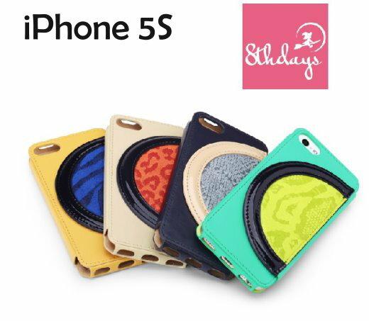 【8thdays】Apple iPhone 5/5S  寶拉月色系列 側掀保護套/皮套