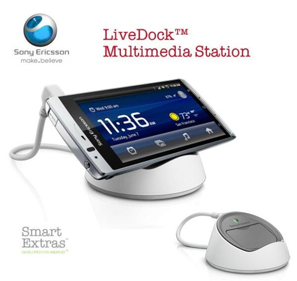 SonyEricsson DK-10/DK10  LiveDuck Multimedia Duck 原廠多媒體充電座~神腦吊卡裝~Live Walkman/WT19i/Active ST17i/ARC S/LT18i/NEO V/MT11i~