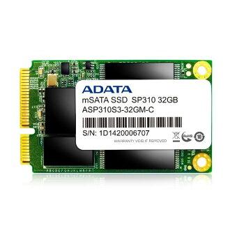 *╯新風尚潮流╭*威剛 SP310 32G mSATA SSD固態硬碟 支援智慧型回應 三年保固 ASP310S3-32GM-C