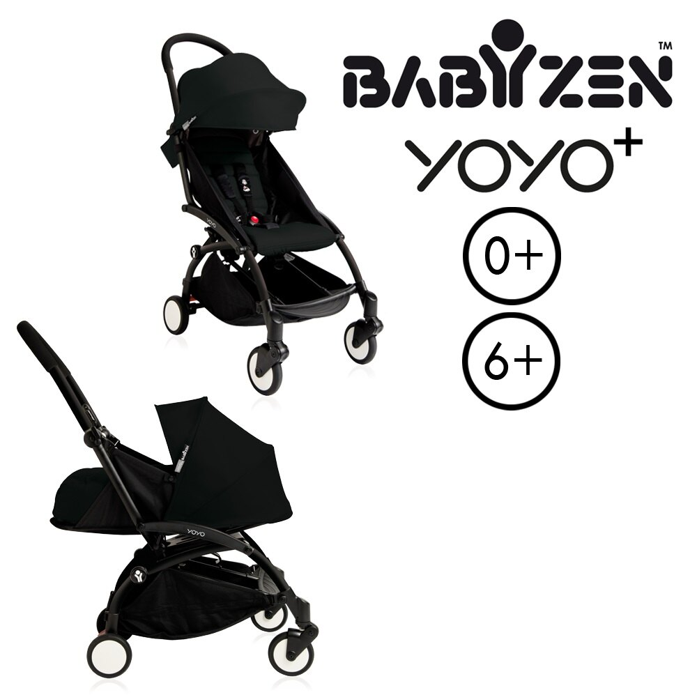 【加購Borny全身包覆墊享$990】法國【BABYZEN】 YOYO-Plus手推車+新生兒套件(黑色) 1