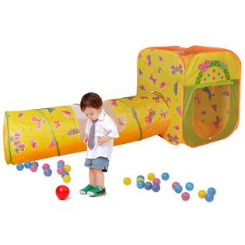 【淘氣寶寶】【CHING-CHING親親】蝴蝶球屋(方型+隧道)+100球 CBH-23