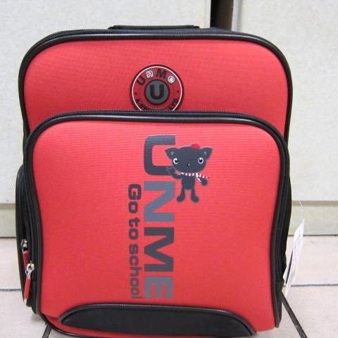 ~雪黛屋~UNME 雙層多功能造型書包 超輕護脊透氣護肩書包 正版授權商品台灣製造#3077紅