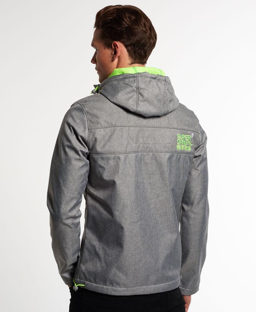 [男款] OUTLET英國名品 代購 極度乾燥 Superdry Windtrekker 男士風衣戶外休閒外套 防水 灰色/螢光綠 2