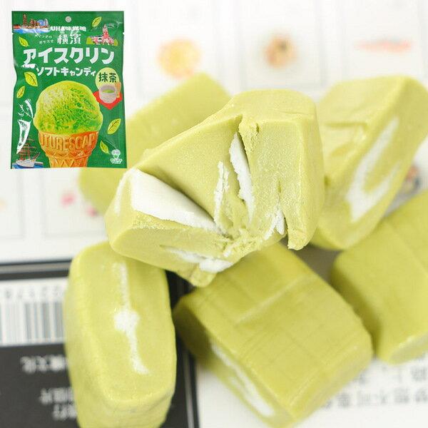 有樂町進口食品 UHA味覺糖 冰淇淋抹茶糖90g J62 4902750846432 3