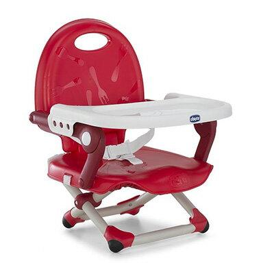 【悅兒樂婦幼用品舘】Chicco Pocket Snake攜帶式輕巧餐椅座墊(櫻桃紅)