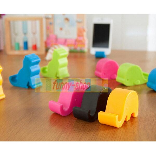 可愛動物手機支撐架/平板支架(1入)【巴布百貨】(隨機出貨)
