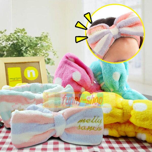 【巴布百貨】大蝴蝶結絨布包頭巾(1入) 五款可選