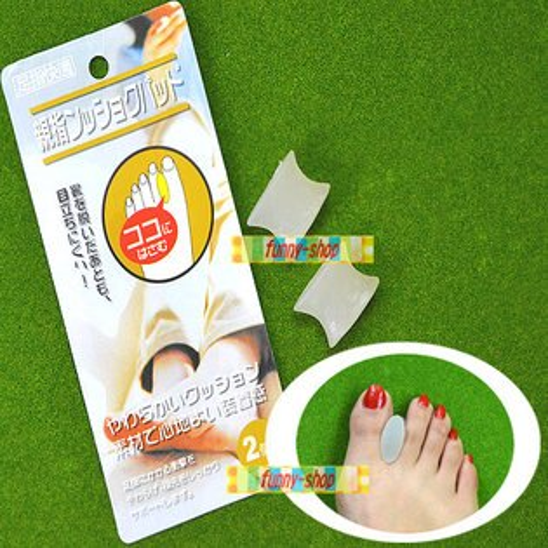 【巴布百貨】高跟鞋矽膠腳趾分離墊/腳趾分離器 (一套2入)