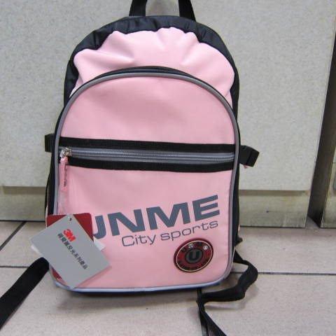 ~雪黛屋~UNME 日本品牌 不分年齡 戶外後背包 戶外教學背包 大人均可#:3086 防水尼龍布粉紅