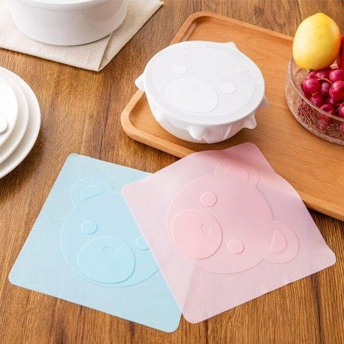 PS Mall 食品級多功能矽膠保鮮膜蓋保鮮碗透明密封蓋子 【J664】