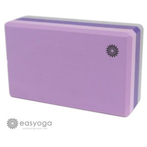 easyoga 瑜珈磚 高優質瑜珈磚 50D-紫色