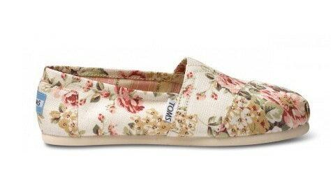 【TOMS】茉莉花帆布平底休閒鞋  Shabby Chic Women's Classic 2