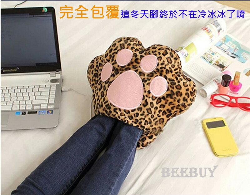USB暖腳寶毛绒貓爪