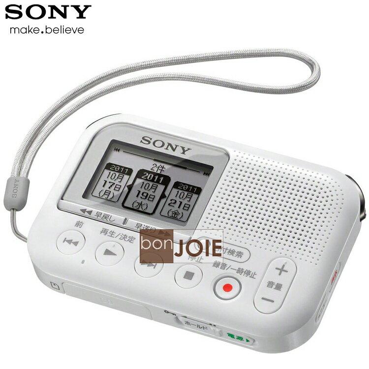 ::bonJOIE:: 日本進口 境內版 SONY ICD-LX31 白色款 SD 卡數位錄音機 (附 8GB SD記憶卡) 立體聲錄音筆 MP3 格式錄音機 (ICD-LX30新版)