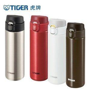 免運費【TIGER虎牌】480cc超輕量型彈蓋式真空保溫杯/保溫瓶/保溫罐 MMY-A048(白)