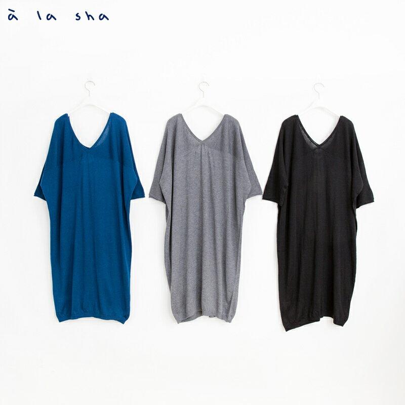 a la sha mucha 簡約設計感長版針織衫 4