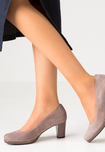 Gabor 麂皮素面優雅跟鞋 1