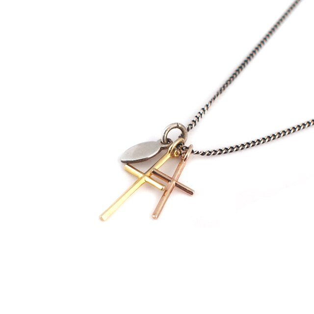 【海外訂購】【amp japan】簡約雙十字架純銀項鍊 (AMP-11AD-895 0567040000) 1