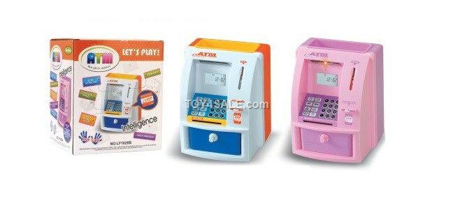 Kids bank atm money coin box machine digital for A href text decoration