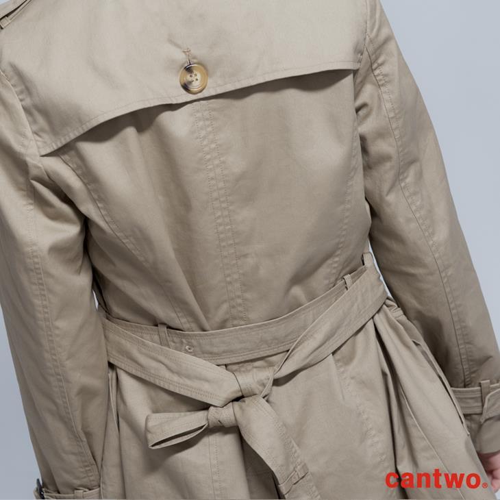 cantwo雙排釦兩穿式風衣外套(共二色) 6