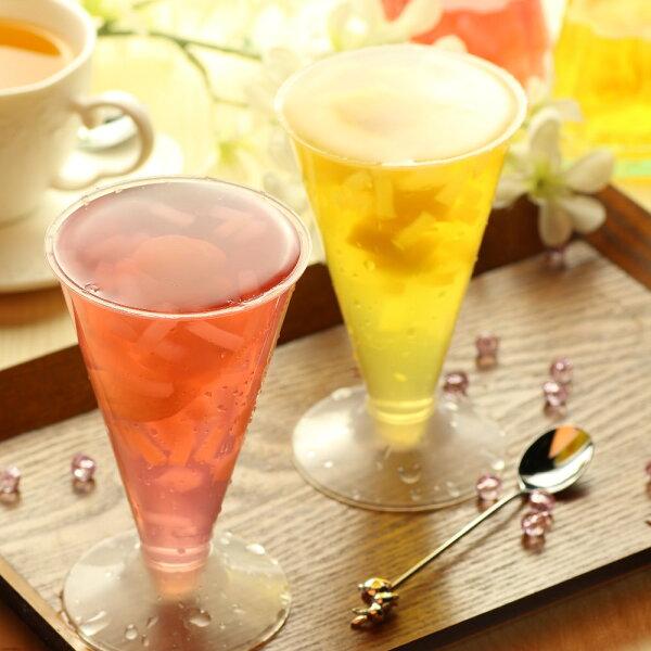 高腳杯 水蜜桃 / 葡萄 椰果果凍(225g)