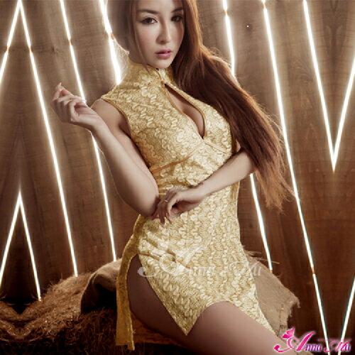 【伊莉婷】金色雙面開衩二件式旗袍角色扮演服 NA14030013 - 限時優惠好康折扣