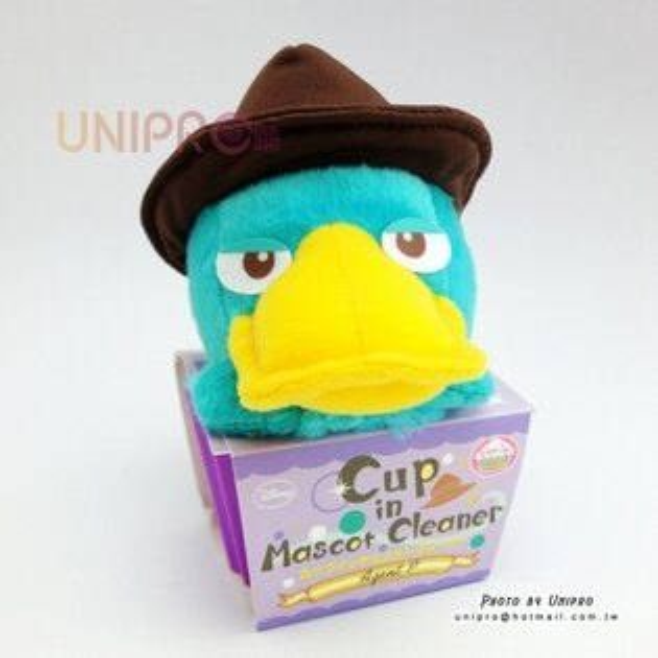 【UNIPRO】日貨 Cup in Mascot Cleaner 泰瑞鴨 絨毛玩偶 娃娃 特務P 飛哥與小佛 正版