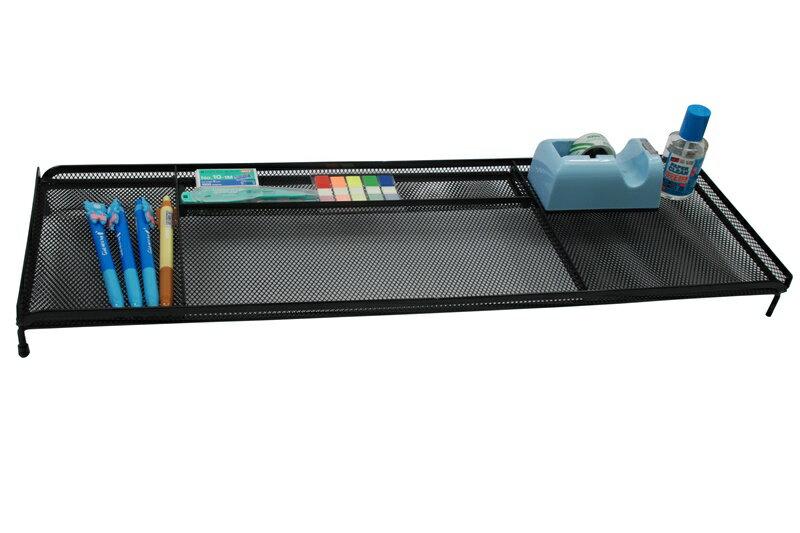 【凱樂絲】電腦桌辦公桌收納架 -4格收納區,可放置手機,筆,POST IT,文具用品 - 黑色網狀設計 3