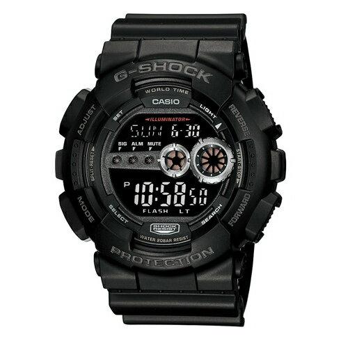 CASIO G-SHOCK GD-100-1BDR經典數位流行腕錶/黑面51mm