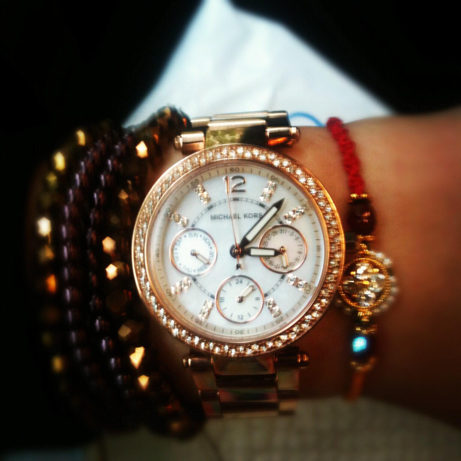 【限時8折 全店滿5000再9折】MichaelKors MK 玫瑰金鑲鑽 三環計時手錶腕錶 MK5491 美國Outlet 正品代購 7
