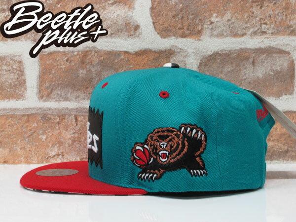 BEETLE PLUS 全新 MITCHELL&NESS X BAIT X NBA GRIZZLIES 溫哥華灰熊 湖水綠 紅 聯名 後扣棒球帽 1