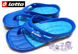 【巷子屋】義大利第一品牌-LOTTO樂得 男款世足風潮紀念人字拖鞋 [2036] 藍 超值價$198