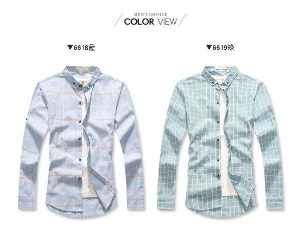 ☆BOY-2☆【NQ97013】修身細格紋長袖襯衫 2