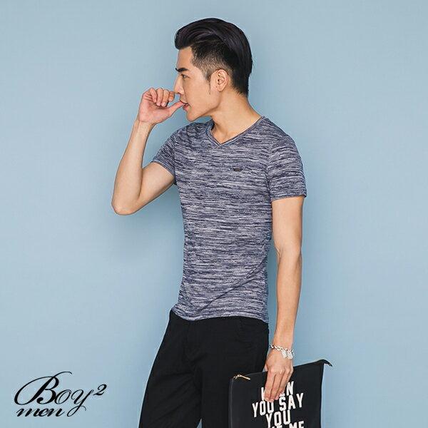 ☆BOY-2☆【LL1006-1】休閒滿版線條素面圓領短袖T恤 3