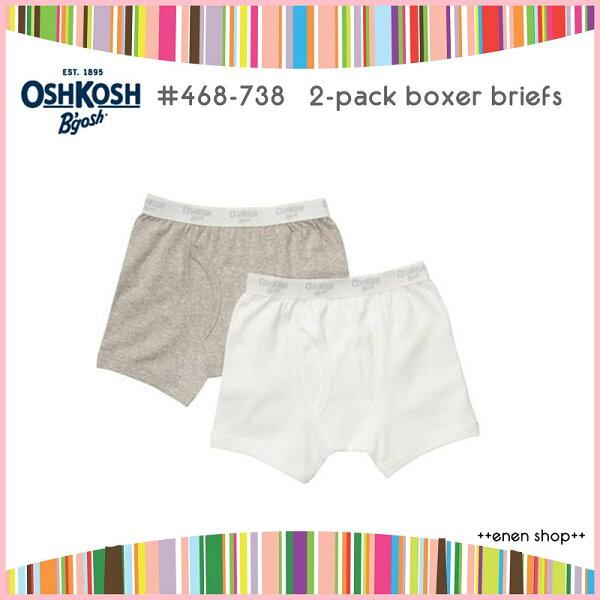 Enen Shop @OshKosh B'gosh 白色/灰色素面平口褲兩件組 ∥ 2T **零碼出清**