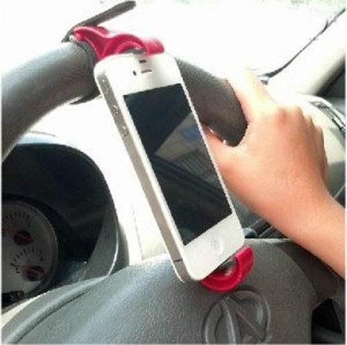 PS Mall╭*GPS導航手機支架 車載GPS導航儀方向盤手機支架托座 【J1587】iphone6&I6可用