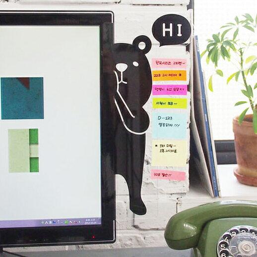 PS Mall 動物躲貓貓造型 螢幕側邊留言板 壓克力  便條紙 桌面收納【J1735】